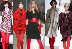 Красный цвет в гардеробе.