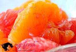 Десерт из апельсинов и грейпфрутов.