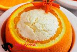Мороженое в апельсинах.