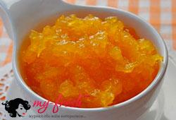 Цитрусово-тыквенный десерт.
