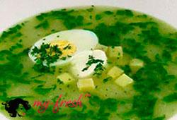 Овощной суп с клёцками.