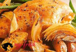 Куриные грудки в горчичном соусе.