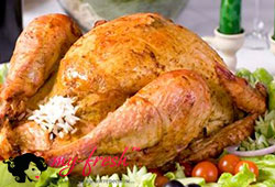 Курица фаршированная.