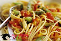 Спагетти по-летнему.