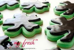 Печенье в мятной глазури.