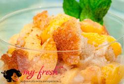 Персики с базиликом и мёдом.