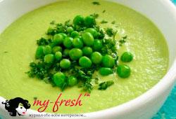 Суп-пюре из зелёного горошка.