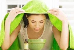 Очищение кожи лица: паровая баня