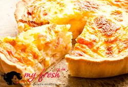 Яичный пирог с грибами