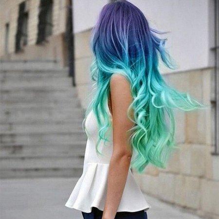 Новый тренд: радужное окрашивание волос