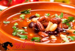Бобовый суп с мясом