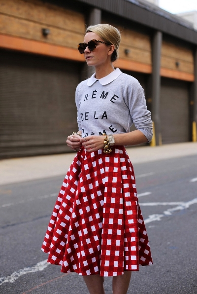 С чем носить юбку-солнце