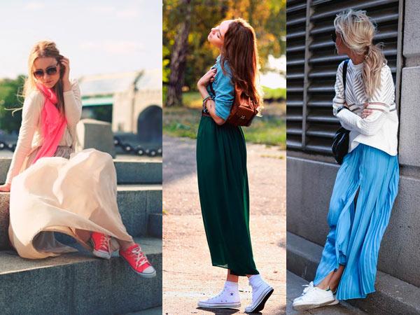 С чем носить юбку в пол - 30 ярких образов