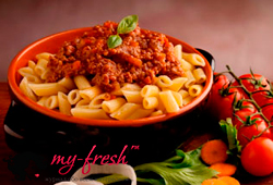 Рожки в мясном соусе по-итальянски