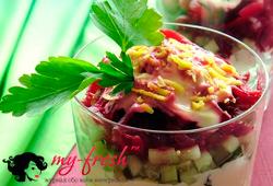 Свекольно-крабовый салат