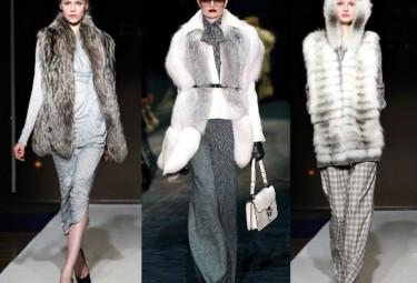 Меховой жилет - с чем носить