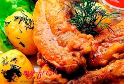 Свиные рёбрышки в апельсиновом соусе