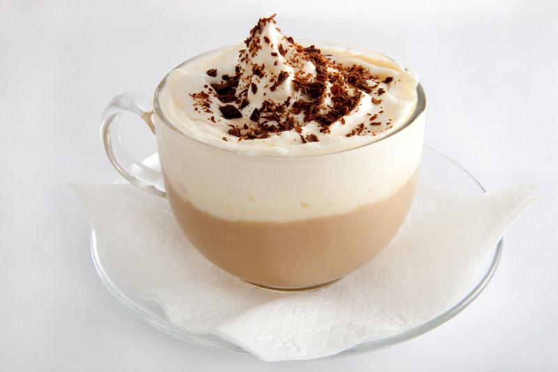Рецепт чёрного кофе со сливками
