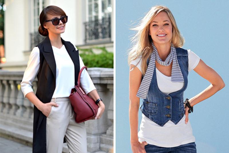 Жилет в женском и подростковом гардеробе - какие бывают и с чем носить